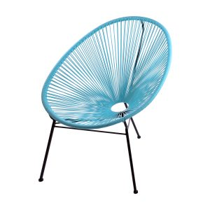 SKASON PULKKO - Acapulco Chair, Design Sessel in hellblau