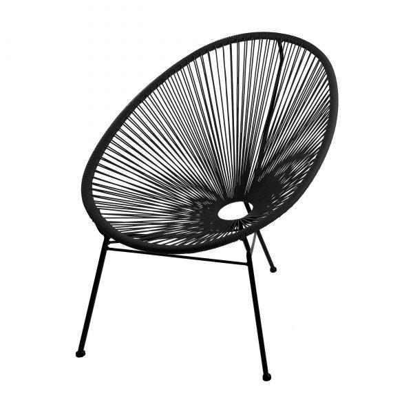 SKASON PULKKO - Acapulco Chair, Design Sessel in schwarz
