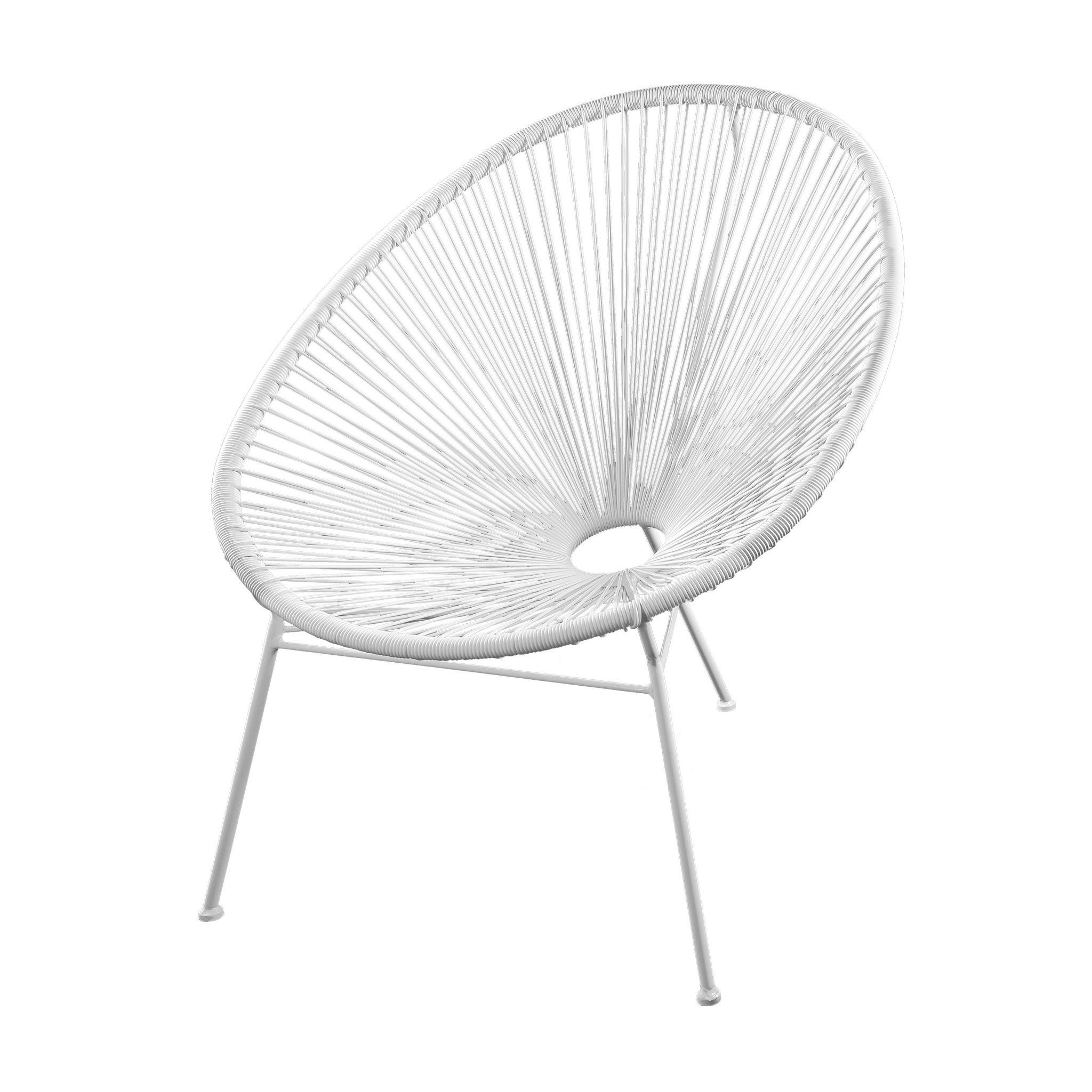 SKASON PULKKO - Acapulco Chair, Design Sessel in weiß